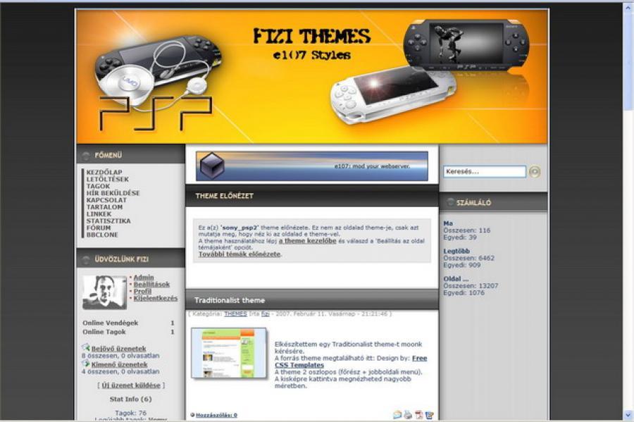 Sony PSP 2 theme - Fizi Themes